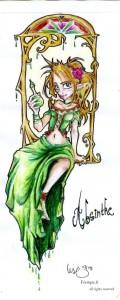 fée féerique dessin aquarelle absinthe elfe années1900