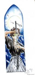 fée féerique marque-page manga samourai sabre dessin