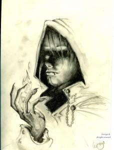 fée féerique BD dessin créature clair-obscur vampire gothique gothic