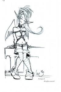 L elfe angel - Dessin feerique ...