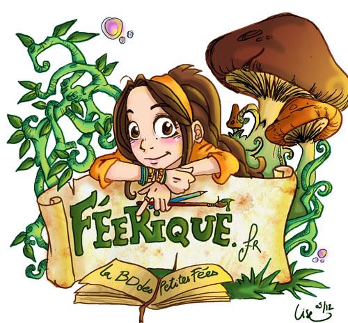 présentation du blog féerique, avec  champignons et  parchemins
