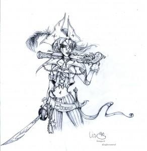 fée féerique dessin BD femme pirate corsaire