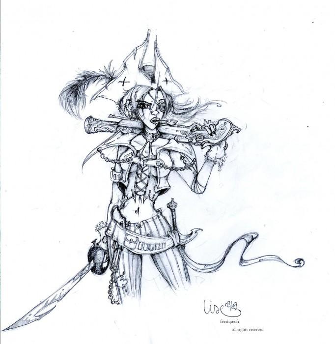 She s a pirate - Dessin feerique ...