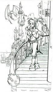 fée féerique BD dessin aventure citadelle dragon