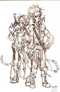 fée féerique BD dessin mercenaire couple guerrier aventure