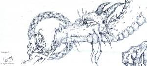 fée féerique BD dessin dragon elfe celtique celtic