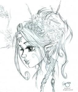 fée féerique dessin BD princesse reine elfe magnolia fleur visage
