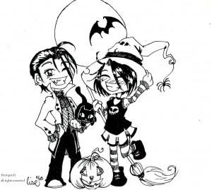 fée féerique dessin BD comics humour Halloween vampire sorcière manga
