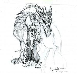 fée féerique dessin BD aventure fantaisie dragon guerrier
