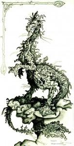 fée féerique dessin BD dragon corail fantaisie