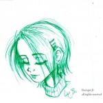 fée féerique dessin BD visage fille