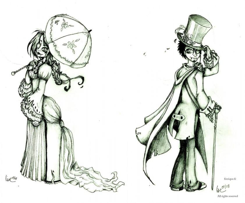 Le couple de vampires - Dessin feerique ...
