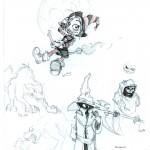 fée féerique dessin BD comic sorcière halloween manga ténèbre