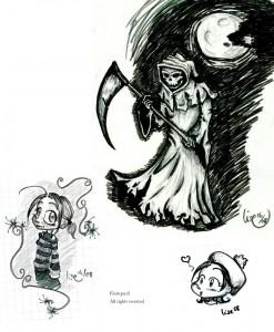 fée féerique dessin BD fantaisie gothic gothique manga feutre