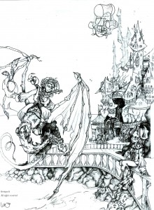 fée féerique dessin BD bande dessinée manga dragon gothique