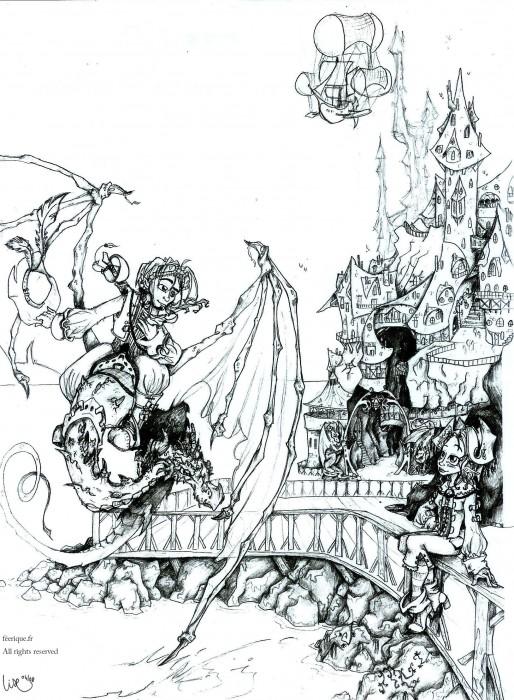 La grande citadelle - Dessin feerique ...