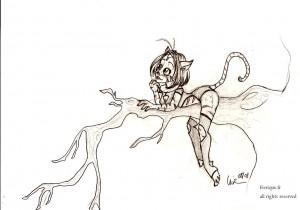fée féerique dessin BD bande dessinée manga ghotique chat