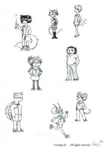 fée féerique dessin BD bande dessinée manga ghotique elfe fantaisy caricature