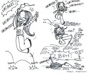 fée féerique dessin BD bande dessinée manga ghotique elfe fantaisy vacances