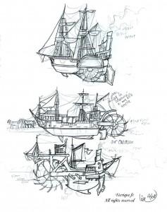 fée féerique dessin BD bande dessinée manga ghotique elfe fantaisy navire