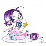 fée féerique dessin BD bande dessinée manga ghotique elfe fantaisy bébé