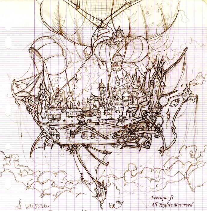 Le vaisseau monde - Dessin feerique ...