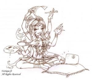 fée féerique dessin BD bande dessinée manga ghotique elfe fantaisy dragon Kali