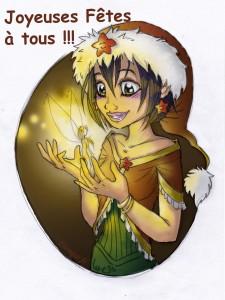 fée féerique dessin BD bande dessinée manga ghotique elfe fantaisy dragon noel