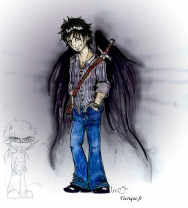 fée féerique dessin BD bande dessinée manga ghotique webcomic elfe fantaisy dragon démon
