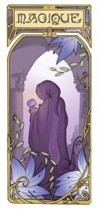 une créature magique et mystérieuse dans un château