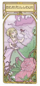 une princesse de conte de fée et son château merveilleux