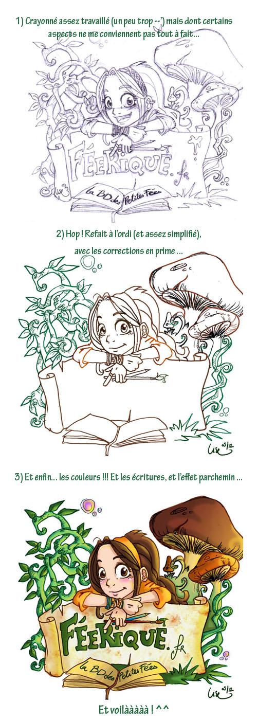 step by step de la nouvelle illustration pour la présentation de feerique