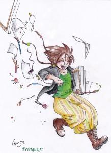 une artiste arrive avec son site internet : l'orée des mondes