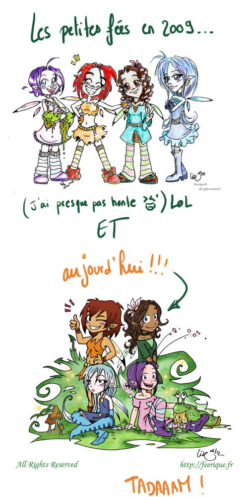 les petites fées de la bande dessinée féerique