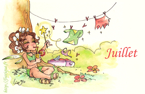 mois de juillet fée dryade été féerique