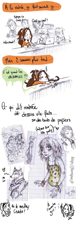 rentrée 2013 amphi de cours littérature medley de dessin