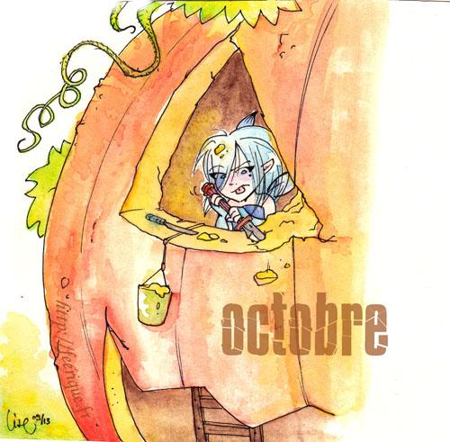octobre automne fée d'halloween jack'o lantern citrouille