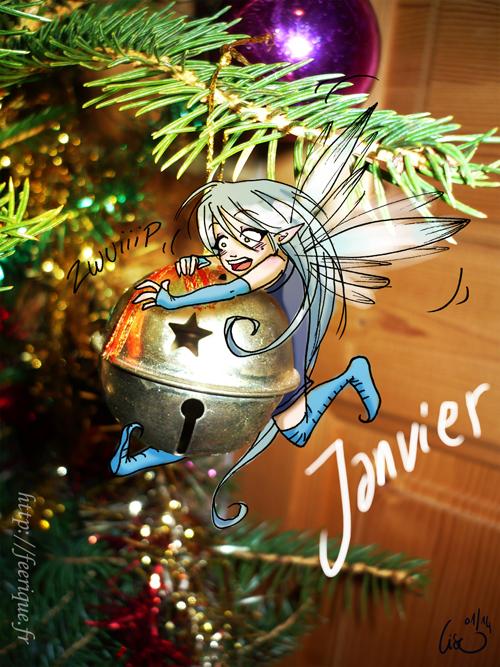 grelot janvier bonne année féerique nouvel an fée sapin de noel