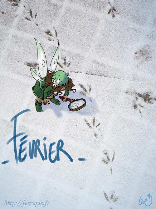 fée féerique dans la neige merveilleux  hiver calendrier 2014