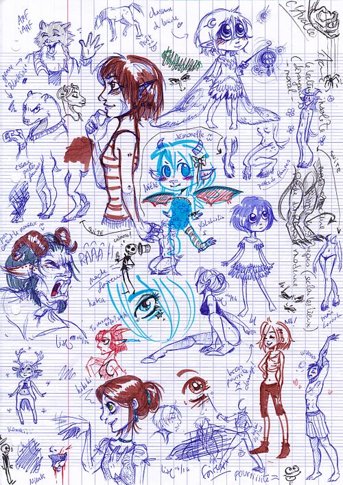 dessins féeriques sketchdump