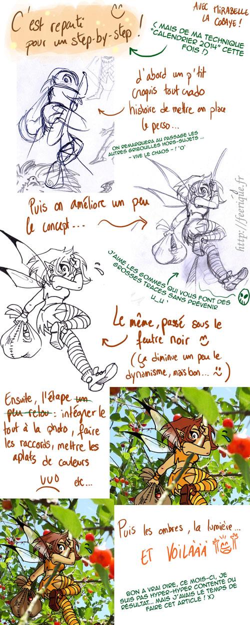 step by step dessin de fée féerique juillet en vacances