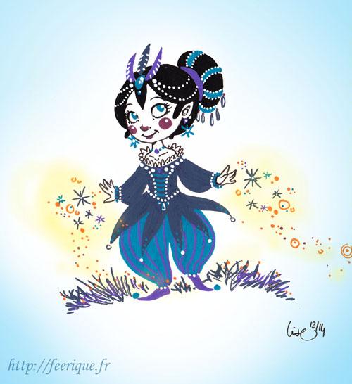 lutine de l'hiver reine des neige fêtes de noel danse